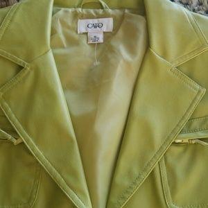 Lime green vinyl jacket